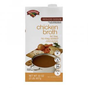 Hannaford Fat Free Reduced Sodium Chicken Broth