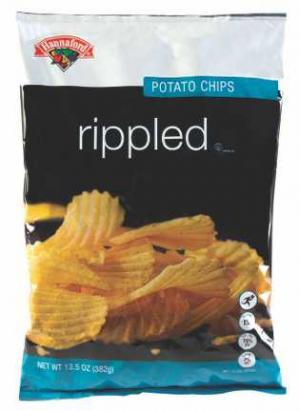 Hannaford Rippled Potato Chips