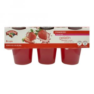 Hannaford Sugar Free Strawberry Gelatin Dessert Cups