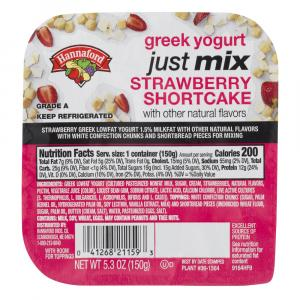 Hannaford Just Mix Strawberry Shortcake Yogurt