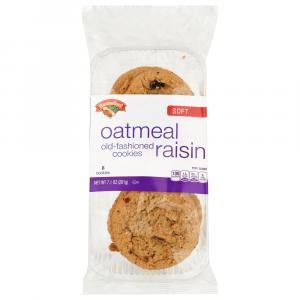 Hannaford Soft Oatmeal Raisin Cookies