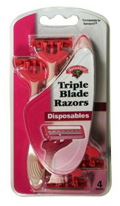 Hannaford Triple Blade Disposable Women's Razors