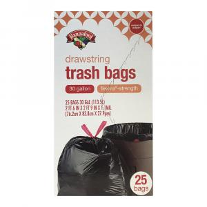 Hannaford Flextra Trash Bags 30 Gallon