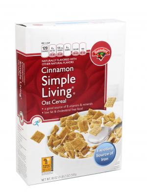 Hannaford Simply Living Cinnamon Oat Cereal