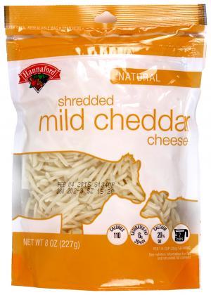 Hannaford Mild Shredded Cheddar Cheese