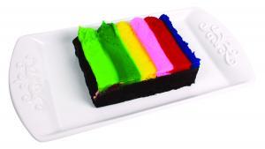 Rainbow Iced Brownies
