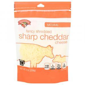 Hannaford Fancy Sharp White Cheddar Shredded Cheese