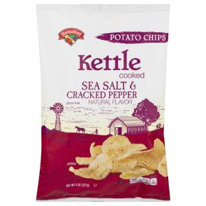 Hannaford Kettle Cooked Sea Salt & Cracked Pepper