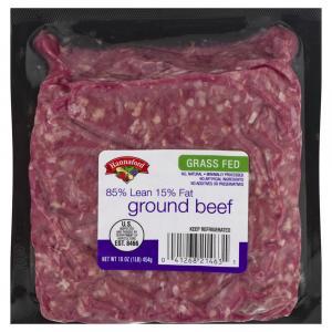 Hannaford Grass-Fed Ground Beef 85/15