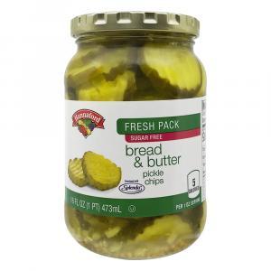 Hannaford Bread & Butter Pickle Chips With Splenda