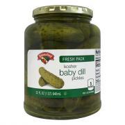 Hannaford Kosher Baby Dills