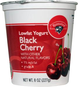 Hannaford Low Fat Black Cherry Swiss Style Yogurt