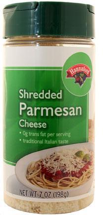 Hannaford Shredded Parmesan Cheese