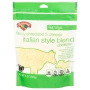 Hannaford Natural Fancy 5 Cheese Italian Blend Shredded