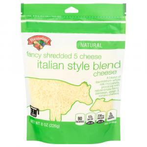 Hannaford Natural Fancy 5 Cheese Italian Blend Shredded
