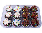 Hannaford Mini Chocolate Cupcakes with Confetti