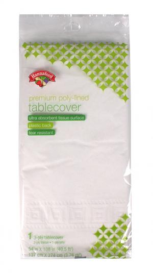 Hannaford Premium Poly-lined Tablecover