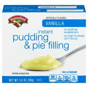 Hannaford Instant Vanilla Pudding Mix