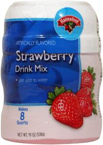 Hannaford Strawberry Drink Mix