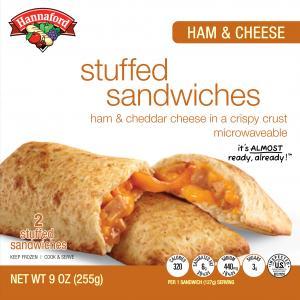 Hannaford Ham & Cheese Stuffed Sandwiches