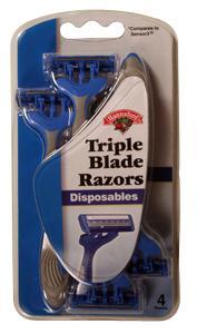 Hannaford Triple Blade Disposable Men's Razors