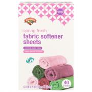 Hannaford Spring Fresh Fabric Softener Sheets