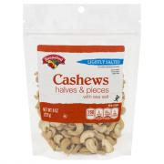 Hannaford Lightly Salted Cashew Halves Pieces