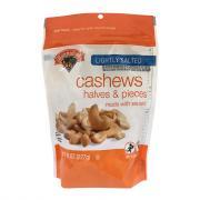Hannaford Lightly Salted Cashew Halves Pieces