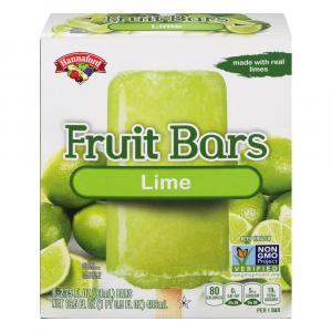 Hannaford Frozen Fruit Bars Lime