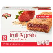 Hannaford Strawberry Fruit & Grain Cereal Bars