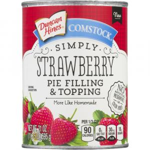 Duncan Hines Comstock Simply Strawberry Pie Filling