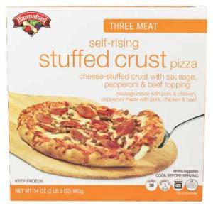 Hannaford Three Meat Self-rising Stuffed Crust Pizza