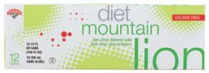 Hannaford Diet Mountain Lion Soda