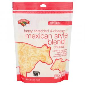 Hannaford 4 Cheese Mexican Taco Fancy Shredded Cheese