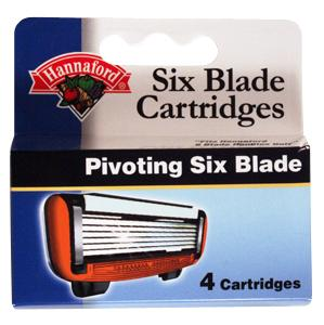 Hannaford Six Blade System Replacement Cartridges