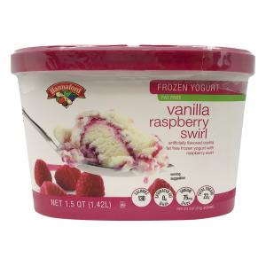 Hannaford Raspberry Swirl Frozen Yogurt