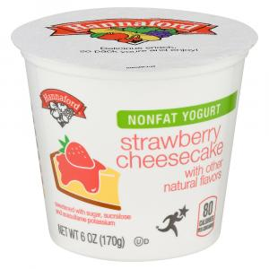 Hannaford Nonfat Strawberry Cheesecake Yogurt
