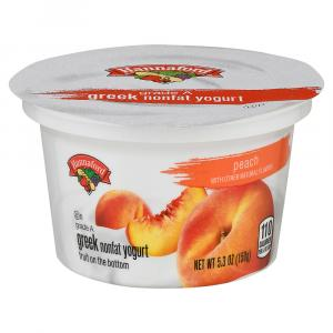 Hannaford Greek Nonfat Peach Yogurt