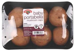 Hannaford Baby Portabella Caps Mushrooms