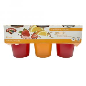 Hannaford Strawberry & Orange Gelatin