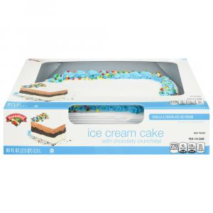 Hannaford Vanilla & Chocolate Celebrations Ice Cream Cake