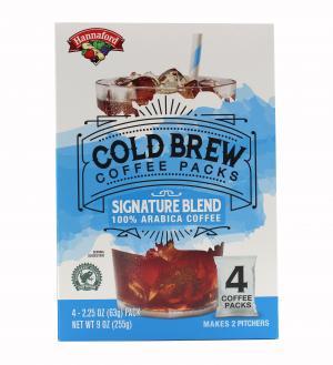 Hannaford Cold Brew Coffee Packs Signature Blend