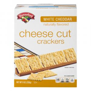 Hannaford White Cheddar Cheese Cut Crackers