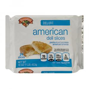 Hannaford White American Deluxe Cheese Slices