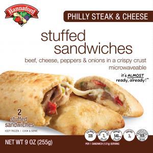 Hannaford Philly Steak & Cheese Stuffed Sandwiches