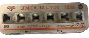Hannaford Jumbo White Eggs