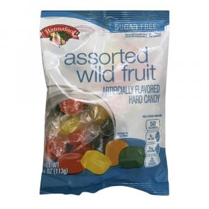 Hannaford Sugar Free Assorted Wild Fruit Hard Candy