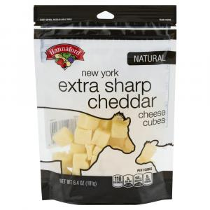 Hannaford New York Extra Sharp Cheddar Cheese Cubes