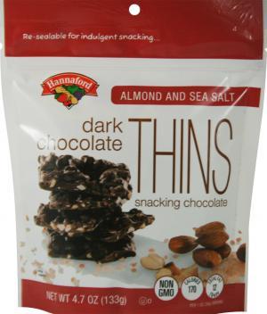Hannaford Almond & Sea Salt Dark Chocolate Thins