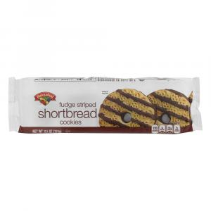 Hannaford Fudge Striped Shortbread Cookies